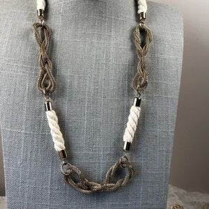 Jewelry - Gold Nautical style rope and knot chain necklace